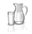 milk carafe cup of milk vector image
