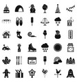 nice party icons set simple style vector image vector image
