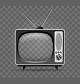 old television icon vector image