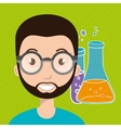 person tube lab chemistry vector image