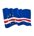 political waving flag of cape verde vector image