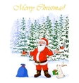 post card Merry Christmas of vector image vector image