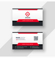 professional red business card design vector image vector image