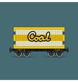 Railway Wagon for Coal Isolated vector image vector image