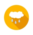 Rainy cloud flat icon vector image vector image
