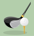 realistic Golf club and ball vector image