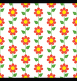 Red Flowers Seamless Pattern vector image vector image