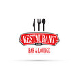 Red restaurant design vector image