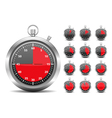 Red Timers vector image vector image