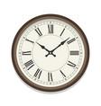 retro roman clock icon single isolated vector image