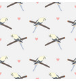 seamless hand drawn pattern with beautiful couple vector image vector image