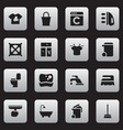 set of 16 editable cleanup icons includes symbols vector image vector image