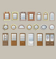 set of classic windows vector image vector image