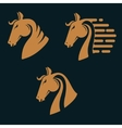 Set of horse head silhouettes vector image vector image