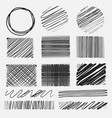 set of line grunge brushes textures vector image vector image