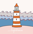 ShipLighthouse13 vector image