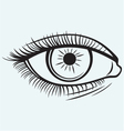 silhouette a female eye vector image vector image