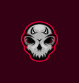 skull mascot logo with little horn skull gaming m vector image
