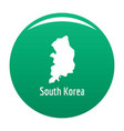 south korea map in black simple vector image