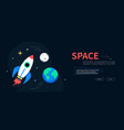 space exploration - colorful flat design style web vector image vector image