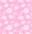 teapot and cup seamless pattern vector image