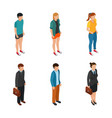 trend isometric people of different characters vector image vector image