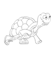Turtle in sneakers vector image vector image