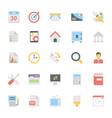 web design flat colored icons 4 vector image vector image