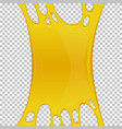 yellow sticky slime banner with copy space vector image