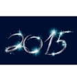 Christmas blue background with glow 2015 vector image