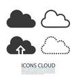 cloud icons set template design vector image
