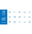 15 progress icons vector image vector image