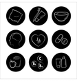 9 health icons medicine medical signs vector image vector image