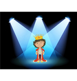 A king at the center of the stage vector image vector image