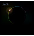 Abstract background with the eclipse of the planet vector image vector image