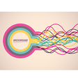 abstract ribbons vector image vector image