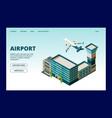 airport landing page departures arrivals info vector image vector image