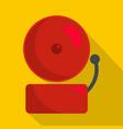 alarm icon flat style vector image