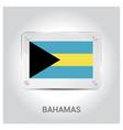 bahamas flag design vector image