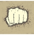 Beautifull of fist in grunge style vector image vector image