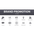 brand promotion simple concept icons set contains