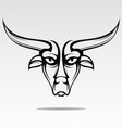 Bulls Head Tattoo Design vector image vector image