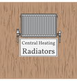 Central Heating Radiators badge Radiator vector image vector image