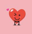 charming heart character emoji vector image vector image