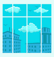 cityscape view design flat vector image vector image