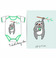 clothes for newborn summer of cute sloth vector image vector image