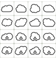 Cloud Shapes Set Icons vector image vector image