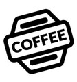 coffee black stamp vector image