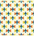 colorful aztec corner elements pattern vector image vector image