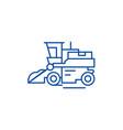 combine harvester line icon concept combine vector image vector image